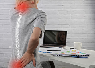 болит спина за компьютером
