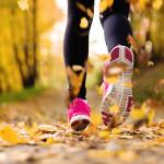 бег осень